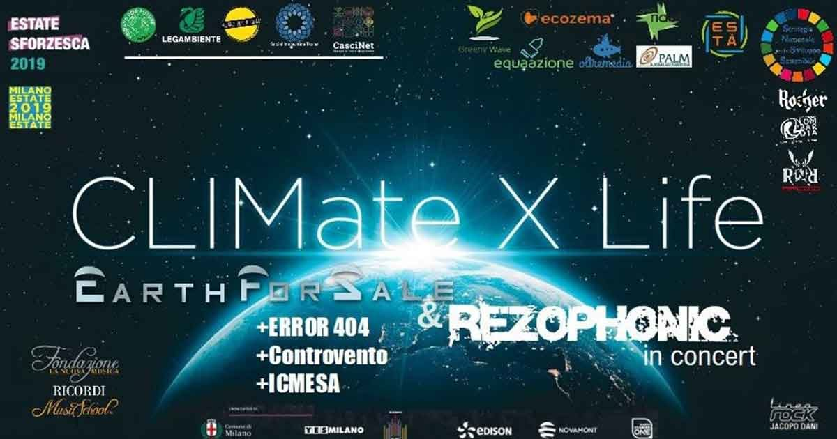 Climate x life_ Earth For Sale protagonisti all'Estate Sforzesca